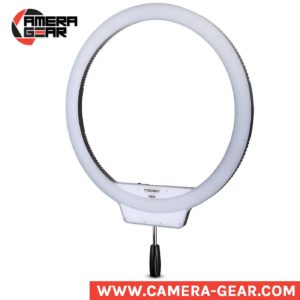 Yongnuo YN608 5500K Ring LED Light is a large diameter ring beauty light with no-frame design. It is a versatile ring LED light that provides a constant light source with a maximum output of 4864 lumens. YN608 is brilliantly made, and for its price and features, unbeatable. Yongnuo YN608 Ring LED Light light is too cheap for what it offers.
