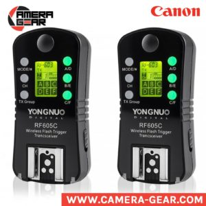Yongnuo RF-605C triggers. manual transceivers for canon