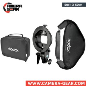 Godox Softbox 50x50 with s type bracket. great softbox for use with flash speedlites