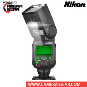 Yongnuo YN968N is a wireless flash speedlite for Nikon DSLR cameras. The YN968N is a high-end flash speedlite that is compatible with Yongnuo YN622 radio system. Yongnuo YN968N speedlite flash supports i-TTL metering. It features a powerful guide number of 60m (ISO 100, 105mm) as well as an long zoom range of 20-105mm, along with a wide-angle diffuser for 14mm coverage on full-frame cameras. Bounce lighting is also possible with tilt from -7 to 150° and rotation left and right 180°.