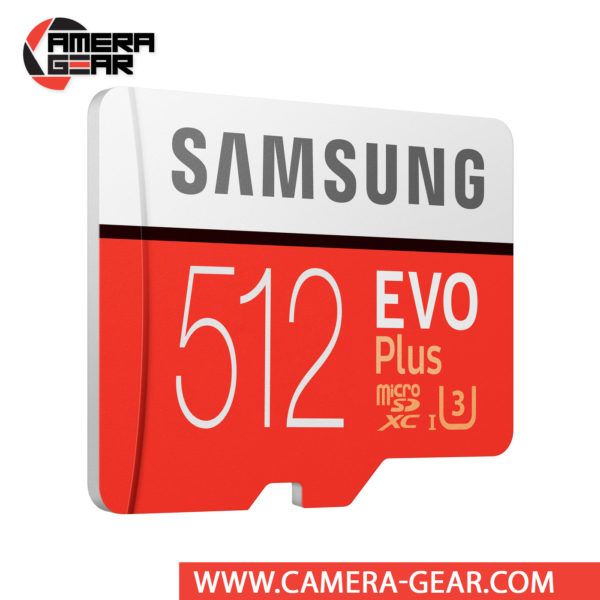 Samsung 512GB EVO Plus UHS-I microSDXC Memory Card with SD Adapter isn't just big on storage, it is also very fast. The EVO+ 512GB has been rated for read and write speeds of up to 100/90 MB/s respectively
