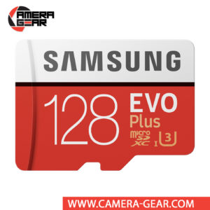 Samsung 128GB EVO Plus UHS-I microSDXC Memory Card with SD Adapter isn't just big on storage, it is also very fast. The EVO+ 128GB has been rated for read and write speeds of up to 100/90 MB/s respectively
