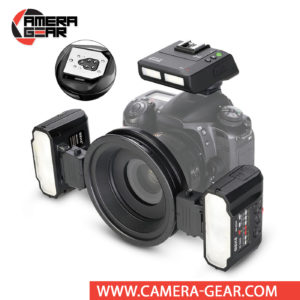 Meike MK-MT24 for Canon is a high-value flash setup that can be used for macro and other flash photography. The Meike MK-MT24 Macro Twin Flash kit is a wireless macro flash kit, designed for macro photography