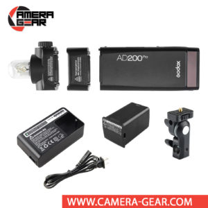 Godox AD200 Pro Witstro is an all in one 200Ws Lithium-ion powered TTL and HSS enabled portable strobe, with Godox X1 compatible 2.4GHz radio receiver built inside