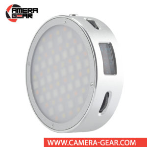 Godox R1 Round Mini RGB LED Magnetic Light is a LED-powered light designed to be compact and portable for photographers and videographers on the go. It is a compact light that features integrated magnets for Godox's AK-R1 round head accessories (sold separately) and securing to surfaces for easy mounting. Much more affordable than similar Profoto C1