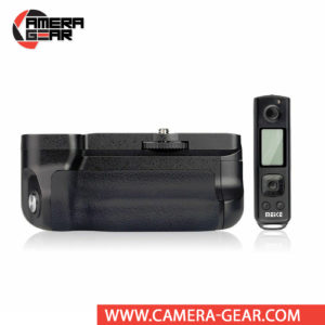 Battery Grip for Sony A6500, Meike MK-A6500 Pro offers both extended battery life and a more comfortable grip when shooting in the vertical orientation. The grip accepts two NP-FW50 batteries to effectively double the battery life for long shooting sessions. Wireless remote control included