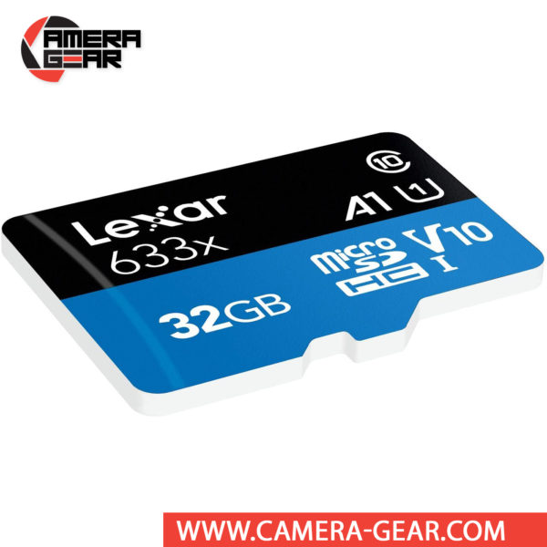 Lexar 32GB UHS-I microSDHC High-Performance Memory Card with SD Adapter is designed to provide plenty of storage for tablets, mobile phones, capturing fast-action photos with action cameras, and recording Full HD video with drones