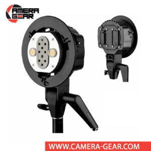 "Godox AD-B2 Dual Power Flash Bracket for AD200 allows you to mount two AD200 Pocket Flashes together to double the flash power. The bracket has a Bowens S-type front accessory mount and a 5/8"" receiver for light stands."