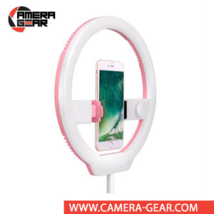 Yongnuo YN128 LED Ring Light with Variable Color Temperature Output 3200-5000K is a ring lamp and phone holder, designed specifically for lighting selfies and video streams. It is one of the most affordable Ring LED lights on the market