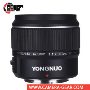 Yongnuo YN 42.5mm f/1.7 Lens for Micro Four Thirds is a fast normal-angle prime lens that excels in low-light photography and also offers improved control over depth of field for isolating subject matter. A lens is a great choice for landscapes, portraiture, street photography, wedding and event photography and much more