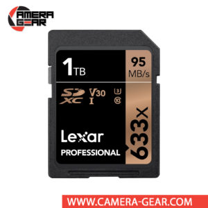 Lexar 1TB Professional 633x UHS-I SDXC Memory Card is compatible with the UHS-I bus and features a speed class rating of U3, which guarantees minimum write speeds of 30 MB/s. Read speeds are supported up to 95 MB/s and write speeds max out at 70 MB/s.