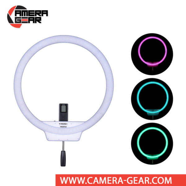 Yongnuo YN608 RGB 5500K LED Wireless Ring Light is another amazing product in a long line of high quality photo and video products at a competitive price point. YN608 RGB LED ring light features a distinctive-shaped light fixture with a daylight color temperature output employing 304 5500K LEDs. It also has 80 SMD RGB LEDs for fine tuning and creating just about any color you want