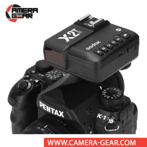 Godox X2T-P TTL Wireless Flash Trigger for Pentax is an upgraded version of Godox X1T transmitter with an improved user interface with a larger display and 5 dedicated group setting buttons on the top left of the device making it much easier and quicker to use.