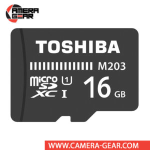 Toshiba 16GB M203 UHS-I microSDHC Memory Card is budget-friendly memory card designed for users on the go who require additional storage for their mobile devices. The card is water-resistant, shock-proof and features an impressive read speed of up to 100MB/s.