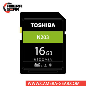 Toshiba 16GB N203 UHS-I SDHC Memory Card features an impressive read speed of up to 100MB/s and offers plenty of storage at very affordable price.
