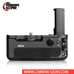 Battery Grip for Sony A7III, A7RIII, A9 Meike MK-A9 offers both extended battery life and a more comfortable grip when shooting in the vertical orientation. The grip accepts two NP-FZ100 batteries to effectively double the battery life for long shooting sessions