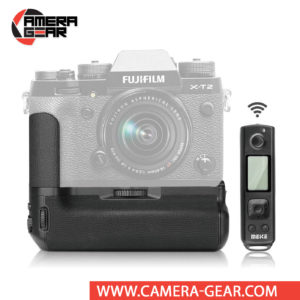 Battery Grip for Fuji X-T2, Meike MK-XT2 Pro offers both extended battery life and a more comfortable grip when shooting in the vertical orientation. The grip accepts two NP-W126 batteries to effectively double the battery life for long shooting sessions. Wireless remote control included