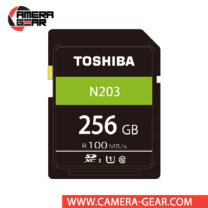 Toshiba 256GB N203 UHS-I SDXC Memory Card features an impressive read speed of up to 100MB/s and offers plenty of storage at very affordable price