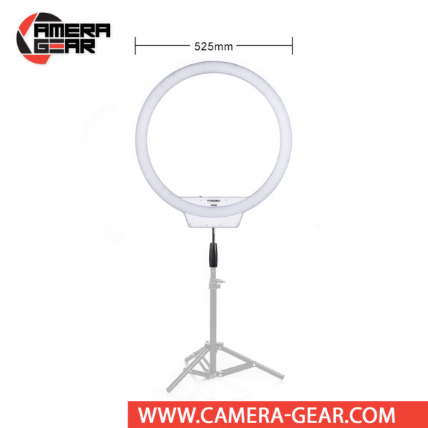 Yongnuo YN308 LED Video Ring Light 5500K is a professional LED light for both photo and video work. Extremely high CRI of 95 to make sure all colors are rendered in a natural manner.This is an excellent light source for portrait photography, fashion photography, macro and product photography, videography and much more. Yongnuo YN308 gives you the softest light out of all LED Ring products on the market.