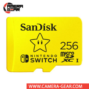 SanDisk 256GB UHS-I microSDXC Memory Card for the Nintendo Switch is officially-licensed SanDisk microSDXC card for the Nintendo Switch. It provides dependable, high-performance storage for your console and offers impressive performance figures up to 100MB/s reads and 90MB/s writes.
