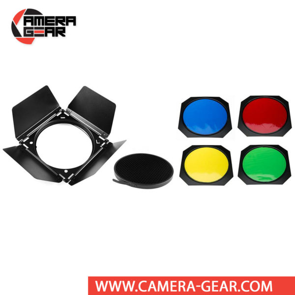 """Godox BD-04 Barndoors are essential accessories for any lighting system, as they alter the shape, intensity, or color of the light output from your light source. Godox BD-04 Barndoor Kit is designed specifically for use on a standard 7"""" reflector"""