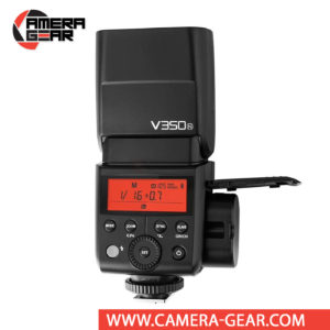 Godox V350N is a compact speedlite with advanced functions including TTL, high-speed sync, a built-in 2.4 GHz radio system, and a rechargeable lithium-ion battery capable of 500 full power flashes. V350N is a perfect on-camera flash for any photographer who prefer smaller yet powerful flash