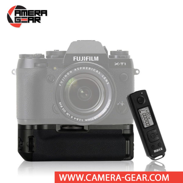 Battery Grip for Fuji X-T1, Meike MK-XT1 offers both extended battery life and a more comfortable grip when shooting in the vertical orientation. The grip accepts additional NP-W126 battery to effectively double the battery life for long shooting sessions. Meike MK-XT1 Battery Grip delivers quality ergonomics for the Fujifilm X-T1 while in portrait orientation along with an increased battery life