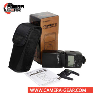 Yongnuo YN568EX III Speedlite for Canon Cameras is a great choice for both professional or advanced amateur Canon shooters. It is features rich, supporting e-TTL (II), HSS, 2nd curtain sync, wireless master and optical slave modes, auto and manual zoom, flash exposure compensation, flash exposure bracketing and much more.