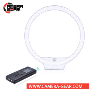 Yongnuo YN308 LED Bi-Color Video Ring Light 3200-5500K is a professional LED light for both photo and video work. Variable color temperature LED panel with both 3200K (tungsten) and 5500K (daylight) LED bulbs allows you to set any color temperature in 3200-5500K range. Extremely high CRI of 95 to make sure all colors are rendered in a natural manner.
