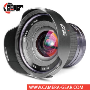Meike 12mm f/2.8 Lens for Canon EF-M Mount Cameras is a manual focusing wide-angle lens designed for APS-C mirrorless cameras. The lens features a bright f/2.8 maximum aperture to balance low-light performance with a compact form factor.