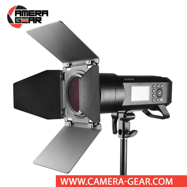 Godox BD-08 Barndoor Kit is an essential accessory for Godox AD400Pro Outdoor Flash. Barndoors are used to alter the shape, intensity, or color of the light output from your light source. Godox BD-08 Barndoor Kit is designed specifically for use with Godox AD400 Pro Witrsto flash but may be compatible with other select flashes.