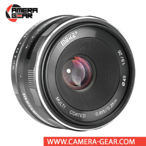 Meike 25mm f/1.8 Lens for Canon EF-M Mount Cameras is a versatile lens, suitable for a range of subjects from portraits to landscapes. It is a manual focusing wide-angle photographic lens designed for APS-C Canon mirrorless cameras.