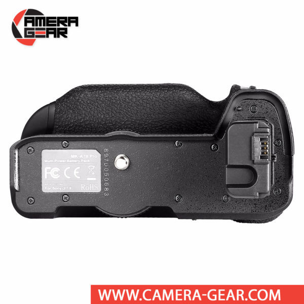 Battery Grip for Sony A7II, A7RII, A7SII Meike MK-A7II Pro offers both extended battery life and a more comfortable grip when shooting in the vertical orientation. The grip accepts two NP-FW50 batteries to effectively double the battery life for long shooting sessions. Wireless remote control included