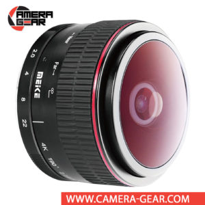 Meike 6.5mm f/2 Circular Fisheye Lens for Fuji X Mount Cameras realizes an impressive 190° angle of view along with a unique circular image shape and strong distortion for a surreal quality. Meike MK-6.5mm fisheye lens rides easily in your gadget bag or coat pocket until you're in the mood to bend some perpendicular lines.