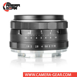 Meike 25mm f/1.8 Lens for Sony E Mount Cameras is a versatile lens, suitable for a range of subjects from portraits to landscapes. It is a manual focusing wide-angle photographic lens designed for APS-C Sony mirrorless cameras.