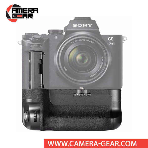 Battery Grip for Sony A7RII, A7II, A7SII Meike MK-A7II offers both extended battery life and a more comfortable grip when shooting in the vertical orientation. The grip accepts two NP-FW50 batteries to effectively double the battery life for long shooting sessions.