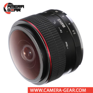 Meike 6.5mm f/2 Circular Fisheye Lens for Micro Four Thirds Cameras realizes an impressive 190° angle of view along with a unique circular image shape and strong distortion for a surreal quality. Meike MK-6.5mm fisheye lens rides easily in your gadget bag or coat pocket until you're in the mood to bend some perpendicular lines.