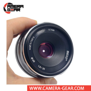 Meike 25mm f/1.8 Lens for Fuji X Mount Cameras is a versatile lens, suitable for a range of subjects from portraits to landscapes. It is a manual focusing wide-angle photographic lens designed for APS-C Fuji mirrorless cameras.